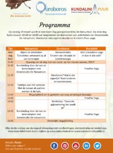 Open Dag Natuurtuin Programma 2015